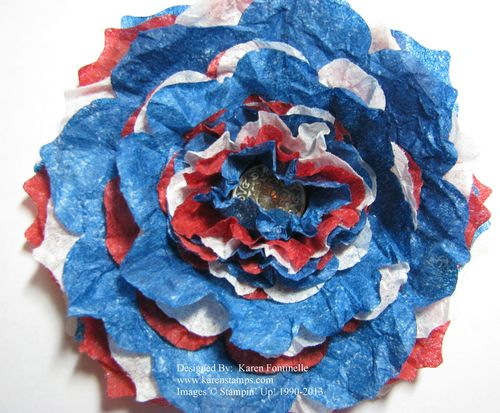 Inauguration USA Creped Filter Paper Flower