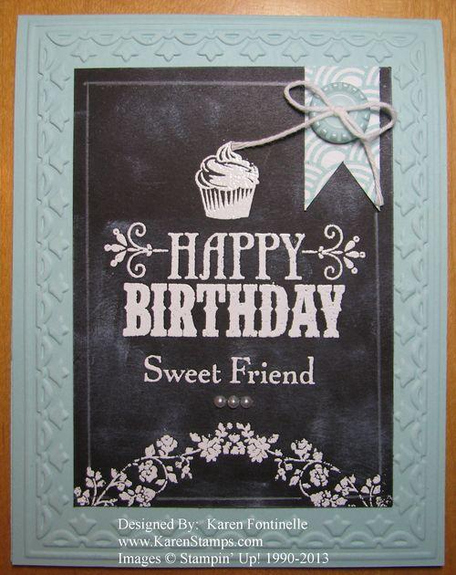 Chalkboard Technique Birthday Card