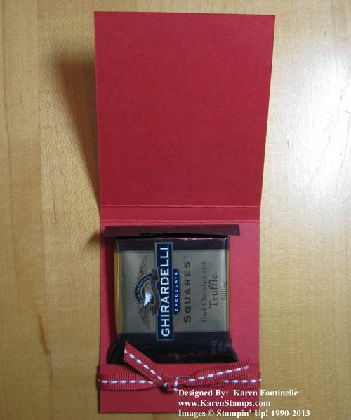 Valentine Candy Treat Matchbook Inside