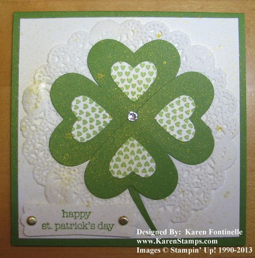 Four Leaf Clover Smooch Spritzed with Gold