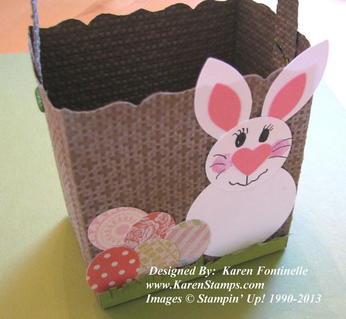 Punch Art Easter Bunny Fancy Favor Basket