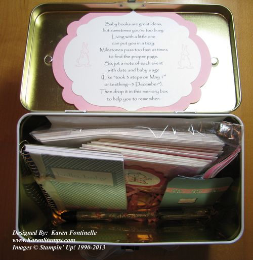 Baby Tin Poem in Lid