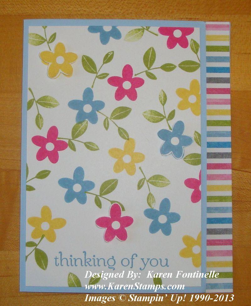 Spring Sampler Flower Card Front
