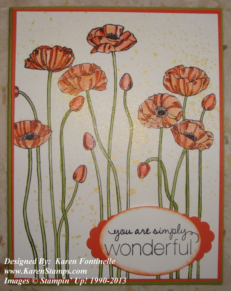 Pleasant Poppies Mother's Day Card