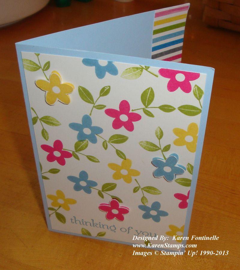 Spring Sampler Flower Card