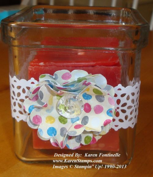 Mother's Day Votive Candle Decorated
